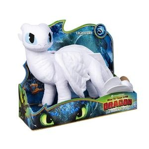 "Dreamworks Dragons Lightfury 14"" Del. Plush Dragon"